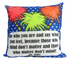 be who you are pillow cover dr seuss quotes home decor