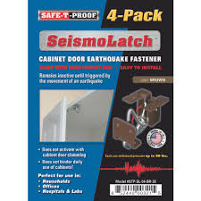 Kitchen Cabinet Door Latches Seismolatch Automatic Cabinet Door Earthquake Latches 4 Pack