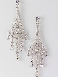Chandelier Earings Silvertone Deco Style Chandelier Earrings Blue Velvet