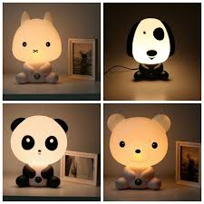 best light for sleep new baby room panda rabbit dog bear cartoon night sleeping light