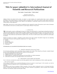 how to write research paper abstract download single column paper format template