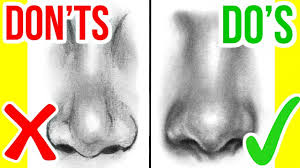 do u0027s u0026 don u0027ts how to draw a realistic nose step by step drawing