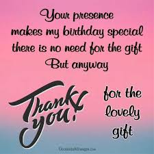 thank you messages for birthday gift occasions messages