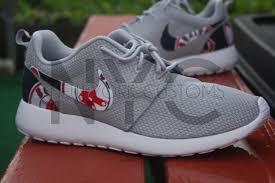 boston red sox nike roshe one grey white custom men women u0026
