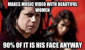 Danzig Meme - makes music video with beautiful women 90 of it is his face anyway