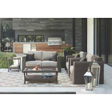 home decorators collection naples dark 4 piece all weather wicker