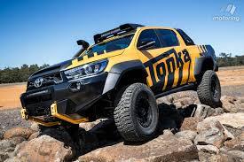 toyota truck hilux toyota reveals sized hilux tonka truck motoring com au