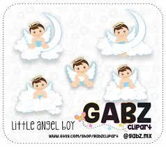 little angel boy clipart baptism christening baby boy angels
