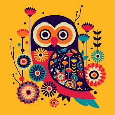Pantone Canvas Gallery Paisley Owls Chumbak On Pantone Canvas Gallery Wise Owl