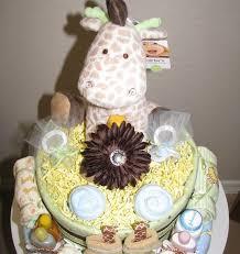 giraffe theme diaper cake image daily walk gifts and diaper cakes