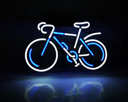 cool neon sign bicycle small lamp light wall sign room decor for