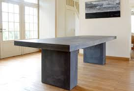 bureau beton ciré table en béton ductal table absolut design et realisation en