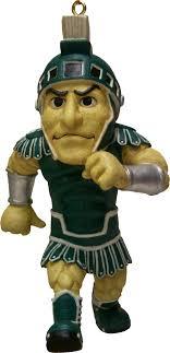 michigan state spartans mascot ornament holidays