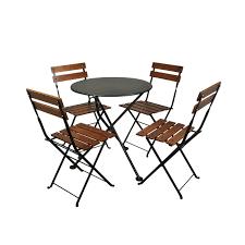 European Bistro Chair European Folding Chestnut Wood Side Bistro Chair Set Of 2