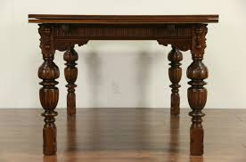 Antique Round Dining Tables Sold English Tudor 1920 Antique Carved Oak Dining Set Table U0026 6