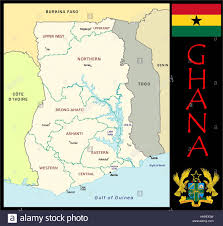 Accra Ghana Map Ghana Administrative Divisions Stock Photo Royalty Free Image
