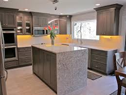 decor nice waterfall countertop for your elegant kitchen