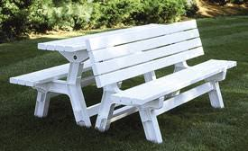 plastic convertible bench picnic table convertible picnic table wholesale vinyl and aluminum