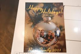 create a unique holiday card family portrait in ornament