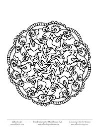 free printable mandala coloring pages bird mandala color 2