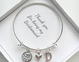 bridesmaid jewellery personalised bridesmaid gift bridesmaid jewellery charm bracelet
