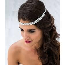 bijoux tete mariage headband ou bijou de tête pour mariée avec strass