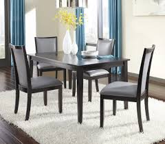 bobs furniture kitchen table set ashley trishelle 5 pc espresso dining table set with gray uph chairs