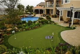 backyard putting greens home outdoor decoration