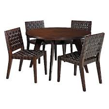 Woven Dining Room Chairs Tulum Leather Dining Room Set