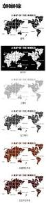 World Map Poster Large Map Wall Stickers Large New Design Art Pattern Map Wall Decal