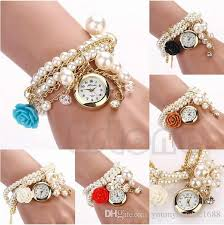 bracelet fashion design images Pearl rose new fashion design luxury brand quartz wristwatch women jpg