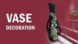 vase decoration with clay youtube