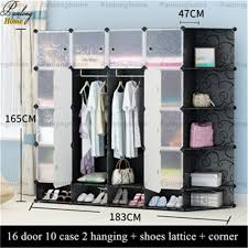 panlonghome 2017 cheap simple bedroom wardrobe furniture cloth