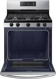 30 Stainless Steel Gas Cooktop Samsung 5 8 Cu Ft Freestanding Gas Range Stainless Steel At