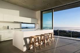 la cuisine de la mer agencement cuisine de rêve avec vue sur la mer et l océan