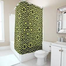 Bright Green Shower Curtain Black And Green Shower Curtain White Black Green Bamboo Leaves