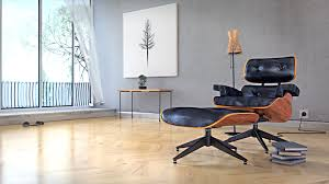 archviz eames lounge chair in a room