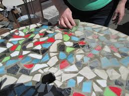 how to design mosaic table top with ceramic tiles mosaics