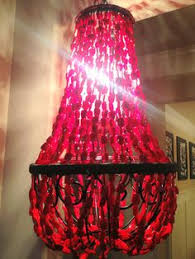 Beaded Chandelier Etsy Am4600 Dangling Led Alan Mizrahi Baguette Beaded Chandelier U003e Now