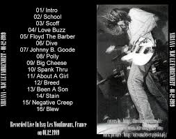 Nirvana Blind Pig Dvd Music Bandung Dvd Nirvana Live At Fahrenheit 1989