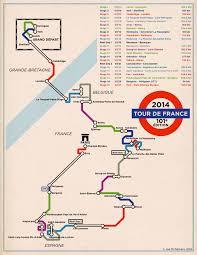 Tour De France Map by Tour De France Map 2014 Underground Style Visual Ly