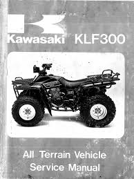 kawasaki bayou 300 service manual repair bearing mechanical