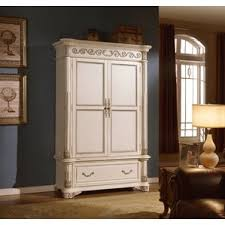 Unfinished Tv Armoire White Armoires U0026 Wardrobes You U0027ll Love Wayfair