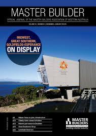 2015 master builders western australia magazine december january