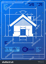 home symbol like blueprint drawing stylized stock vector 148507253