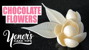 chocolate flowers how to make simple chocolate flowers tutorial yeners way