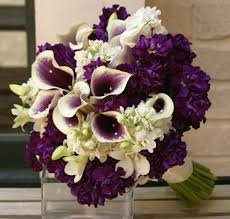 purple wedding bouquets purple flower arrangements for weddings photo via purple wedding