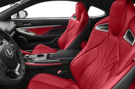 lexus f sport red interior new 2017 lexus rc f price photos reviews safety ratings