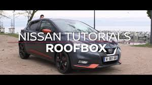 nissan leaf roof rack fitting roof rack nissan micra youtube