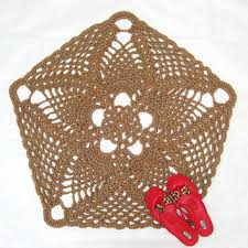 pentagon or pentagram jute rug natural from exotiflora